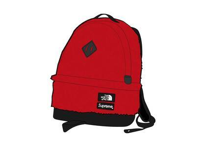 Supreme × The North Face Faux Fur Backpack Redの写真