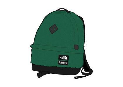 Supreme × The North Face Faux Fur Backpack Green