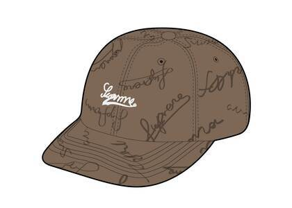 Supreme Script Logos 6-Panel Tanの写真