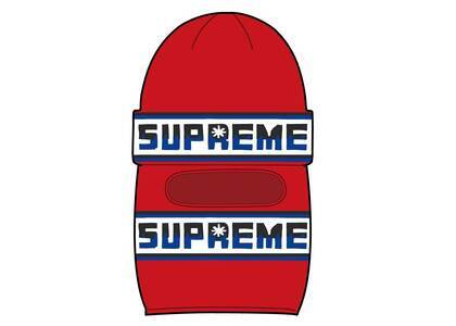 Supreme Double Logo Facemask Beanie Redの写真