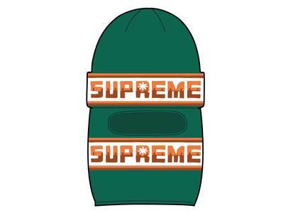 Supreme Double Logo Facemask Beanie Greenの写真