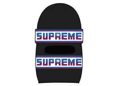 Supreme Double Logo Facemask Beanie Blackの写真
