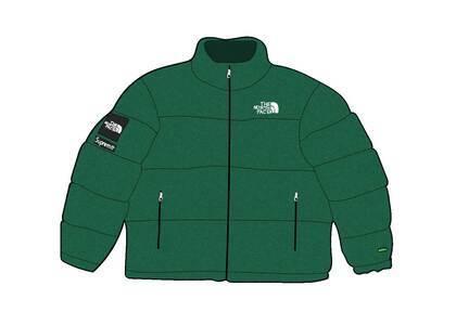 Supreme × The North Face Faux Fur Nuptse Jacket Greenの写真