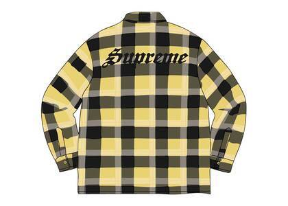 Supreme Quilted Flannel Shirt Yellowの写真