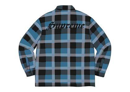 Supreme Quilted Flannel Shirt Tealの写真
