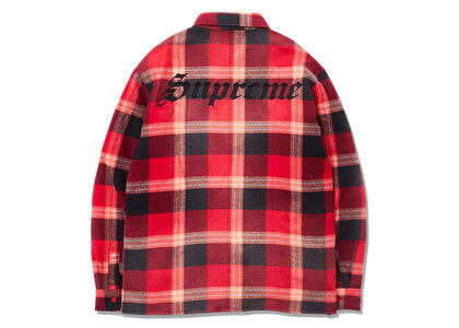 Supreme Quilted Flannel Shirt Redの写真