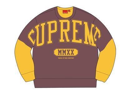 Supreme Overprint Crewneck Yellowの写真