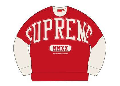 Supreme Overprint Crewneck Whiteの写真
