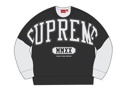 Supreme Overprint Crewneck Ash Greyの写真