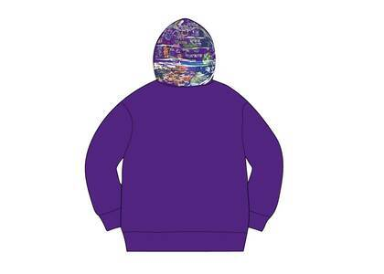 Supreme Globe Zip Up Hooded Sweatshirt Purpleの写真