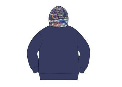 Supreme Globe Zip Up Hooded Sweatshirt Navyの写真