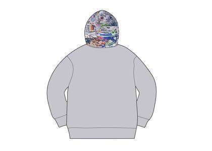 Supreme Globe Zip Up Hooded Sweatshirt Heather Greyの写真