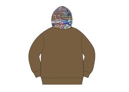 Supreme Globe Zip Up Hooded Sweatshirt Dark Oliveの写真