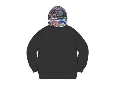 Supreme Globe Zip Up Hooded Sweatshirt Blackの写真