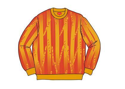 Supreme Textured Stripe Crewneck Yellowの写真