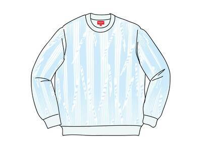 Supreme Textured Stripe Crewneck Light Blueの写真
