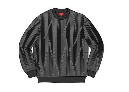 Supreme Textured Stripe Crewneck Blackの写真