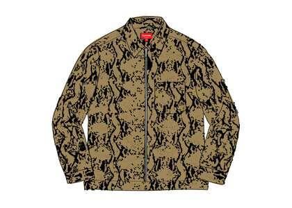 Supreme Snakeskin Corduroy Zip Up Shirt Tanの写真