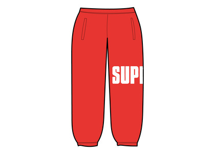Supreme Rib Sweatpant Redの写真