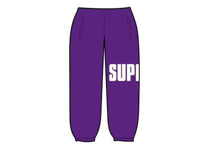 Supreme Rib Sweatpant Purpleの写真