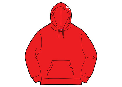 Supreme Rib Hooded Sweatshirt Redの写真
