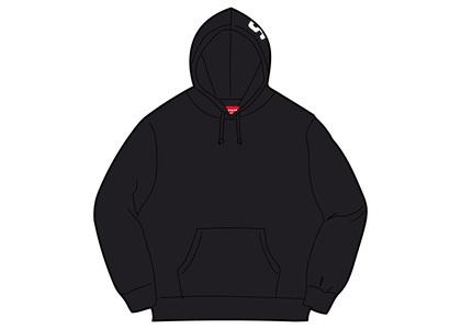 Supreme Rib Hooded Sweatshirt Blackの写真