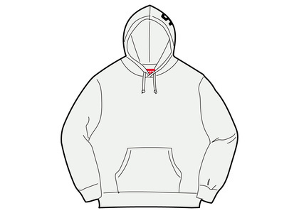 Supreme Rib Hooded Sweatshirt Ash Greyの写真
