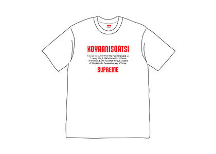 Supreme Koyaanisqatsi Tee Whiteの写真