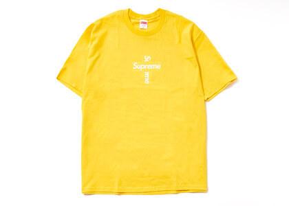Supreme Cross Box Logo Tee Yellowの写真