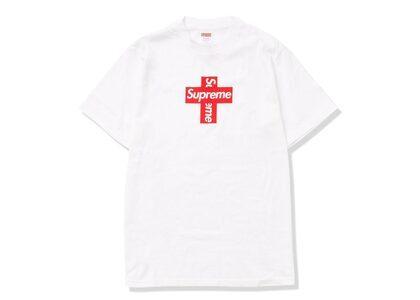Supreme Cross Box Logo Tee Whiteの写真