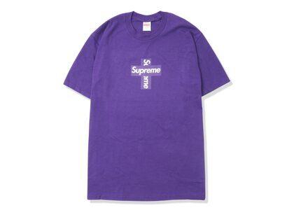 Supreme Cross Box Logo Tee Purpleの写真