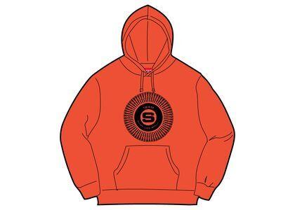 Supreme Chenille Applique Hooded Sweatshirt Orangeの写真