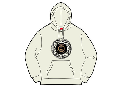 Supreme Chenille Applique Hooded Sweatshirt Naturalの写真