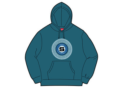 Supreme Chenille Applique Hooded Sweatshirt Marine Blueの写真