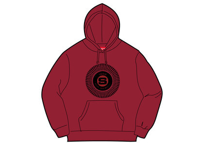 Supreme Chenille Applique Hooded Sweatshirt Dark Magentaの写真