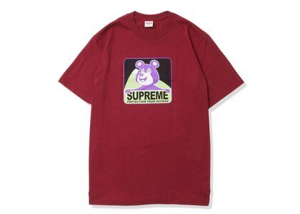 Supreme Bear Tee Cardinalの写真