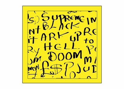 Supreme Black Ark Bandana Fluorescent Yellowの写真