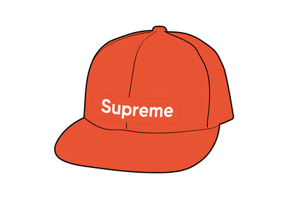 Supreme WINDSTOPPER Earflap Box Logo New Era Orangeの写真