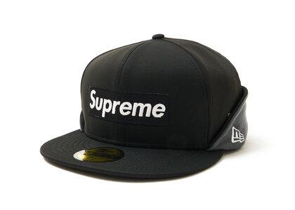 Supreme WINDSTOPPER Earflap Box Logo New Era Blackの写真