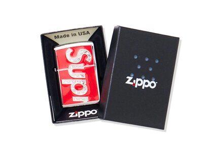 Supreme Swarovski Zippo Redの写真