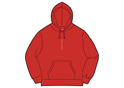Supreme Micro Logo Hooded Sweatshirt Redの写真