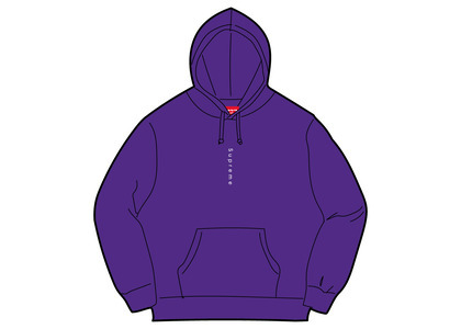 Supreme Micro Logo Hooded Sweatshirt Purpleの写真