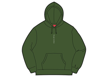 Supreme Micro Logo Hooded Sweatshirt Greenの写真