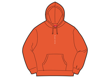 Supreme Micro Logo Hooded Sweatshirt Burnt Orangeの写真