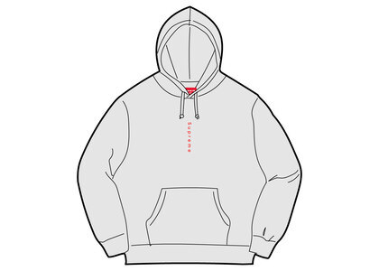 Supreme Micro Logo Hooded Sweatshirt Ash Greyの写真