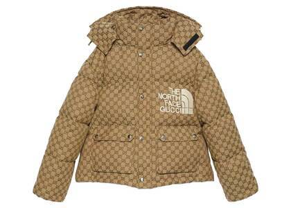 Gucci × The North Face Down Jacket Brown