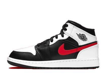 Nike Air Jordan 1 Mid Black Chile Red White GSの写真