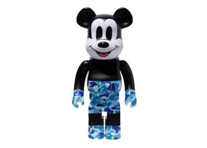 Bape × Mickey Mouse Be@rbrick 1000% Black/Blue Camoの写真