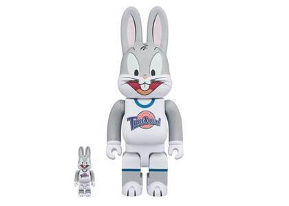 Space Jam x Be@rbrick Rabbrick Bugs Bunny 100% & 400% Set Greyの写真