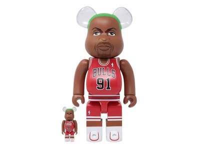 Dennis Rodman (Chicago Bulls) × Be@rbrick 100% & 400% Setの写真